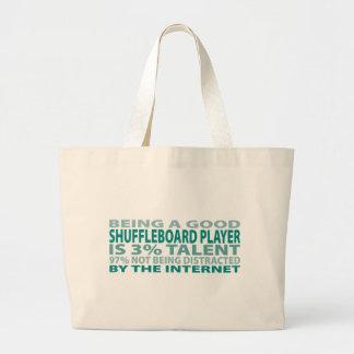Shuffleboard Player 3% Talent Canvas Bags