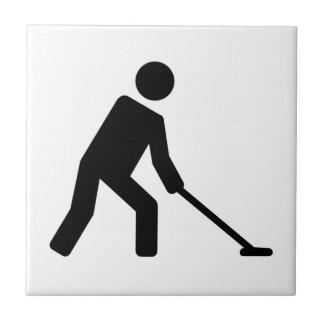 Shuffleboard player tile