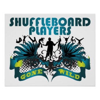 Shuffleboard Players Gone Wild Poster