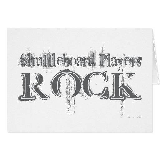 Shuffleboard Players Rock Greeting Cards