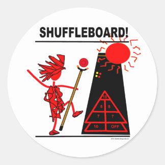 Shuffleboard! Round Sticker
