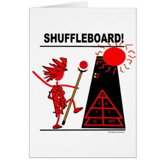 ¡Shuffleboard! Tarjeta De Felicitación