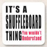 Shuffleboard Thing Designs Beverage Coasters