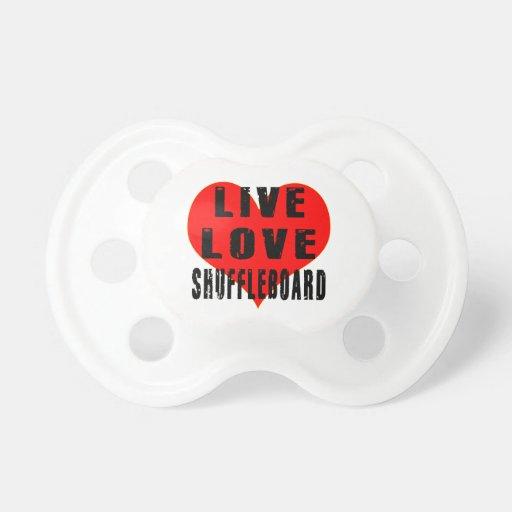Shuffleboard vivo del amor chupete de bebe