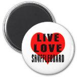 Shuffleboard vivo del amor imán