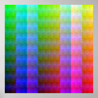 Shuffled Palette (Ortho) Poster
