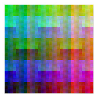 Shuffled Palette (Rotated) Poster