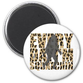 Shufflin Sasquatch 2 Inch Round Magnet