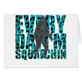 Shufflin' Sasquatch Card