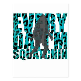 Shufflin' Sasquatch Postcard