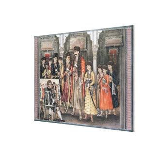 Shuja ud-daula, Nawab of Oudh  and his Ten Canvas Print