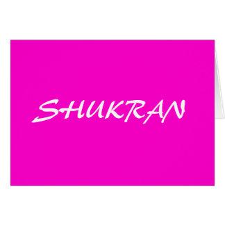SHUKRAN FELICITACIONES
