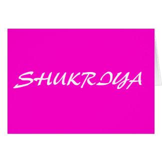 SHUKRIYA STATIONERY NOTE CARD