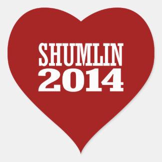 SHUMLIN 2014 HEART STICKERS