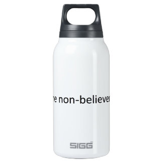 Shun the non-believers insulated water bottle