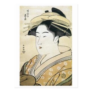 Shuncho Courtesan Hanaogi 1790 Art Prints Postcard