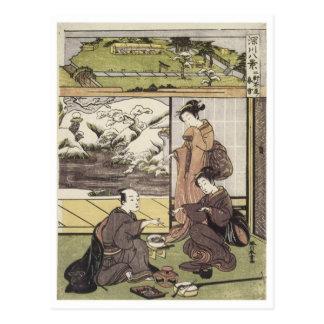 Shunsho Niken Tea house 1772 Art Prints Postcard