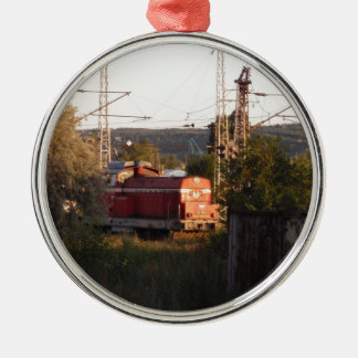 Shunting In The Evening Sun Metal Ornament