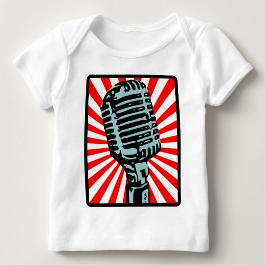 Shure 55S Vintage Microphone Baby T-Shirt