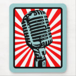 Shure 55S Vintage Microphone Mouse Mat