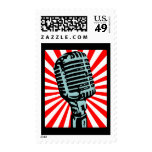 Shure 55S Vintage Microphone Postage Stamps