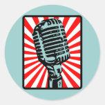 Shure 55S Vintage Microphone Round Sticker