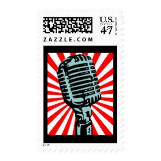 Shure 55S Vintage Microphone Stamp