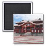 Shuri Castle in Okinawa, Japan 2 Inch Square Magnet
