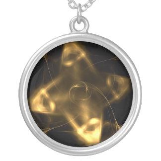 Shuriken de oro collares personalizados