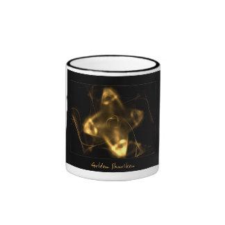 Shuriken de oro taza de dos colores