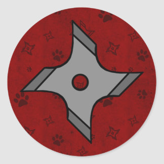 Shuriken Ninja Star In Red Sticker