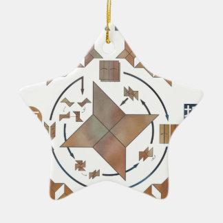 Shuriken Origami Ceramic Ornament