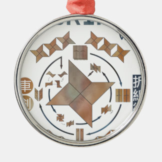 Shuriken Origami Metal Ornament