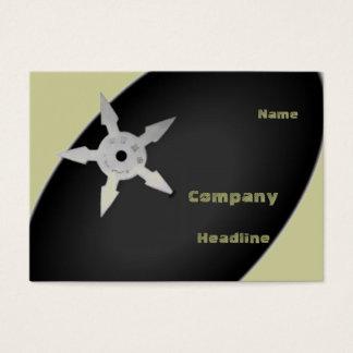 Ninja star business cards templates zazzle shuriken profile card reheart Choice Image