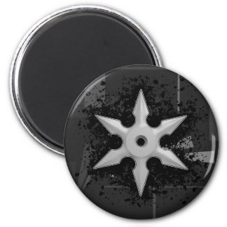 Shuriken with Splatter Background Refrigerator Magnet