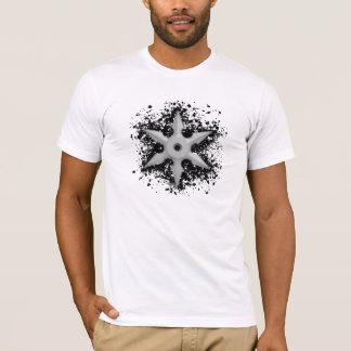 Shuriken with Splatter Background T-Shirt