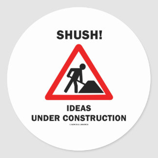 ¡Shush Ideas bajo construcción Pegatinas