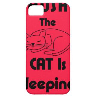 SHUSH! The Cat Is Sleeping iPhone SE/5/5s Case