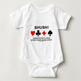 Shush! Thinking Out Loud Gives Your Hand Away Baby Bodysuit