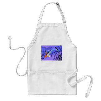 Shusui Koi in Purple Pond with Cattails Adult Apron