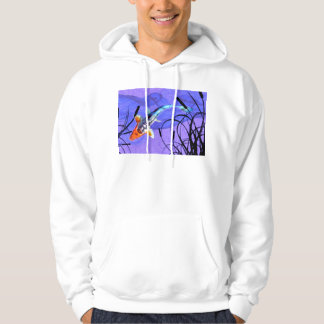 Shusui Koi in Purple Pond with Cattails Hoodie