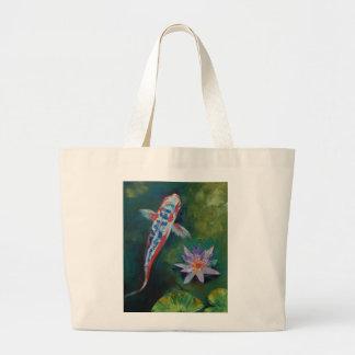 Shusui Koi y bolso del lirio de agua Bolsas De Mano