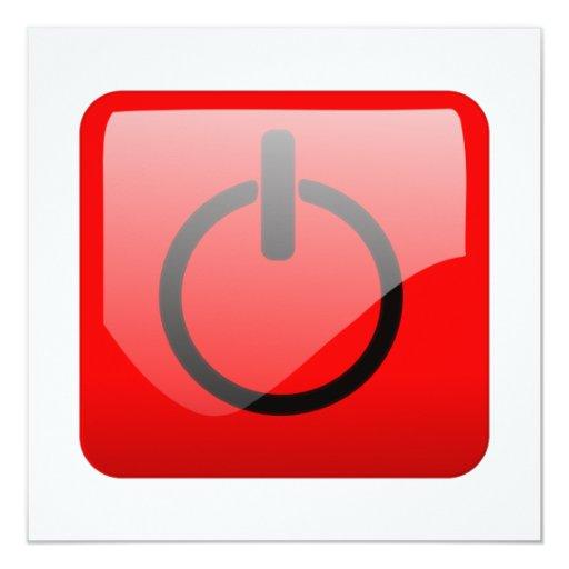 Shut Down Button Symbol Custom Invite