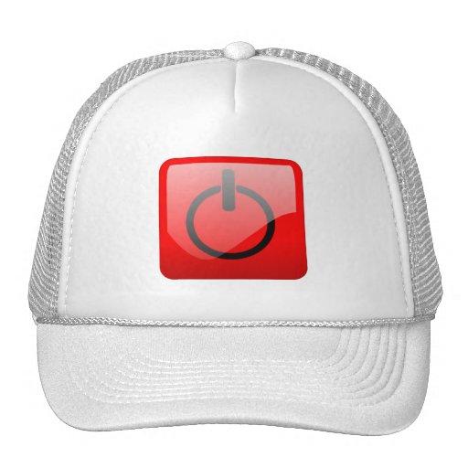 Shut Down Button Symbol Hats