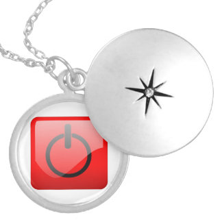 Shut Down Button Symbol Pendants