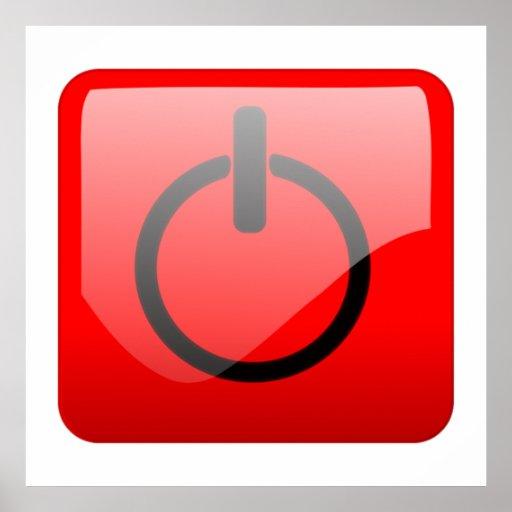Shut Down Button Symbol Print