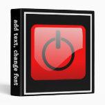 Shut Down Button Symbol Vinyl Binders