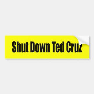 Shut Down Ted Cruz Car Bumper Sticker