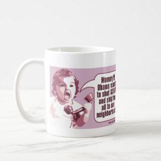 Shut Gitmo - Angry Baby Freaks Out Coffee Mug