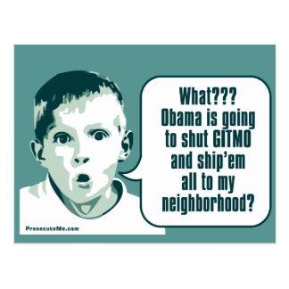 Shut Gitmo - Boy's Big Surprise Postcard